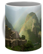 Mountain And Train Below Along Urubamba Coffee Mug