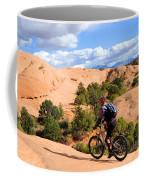 Mountain Biking Moab Slickrock Trail - Utah Coffee Mug by Gary Whitton