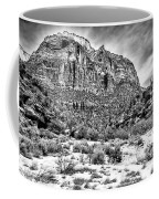 Mountain In Winter - Bw Coffee Mug
