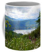 Mountain Lake Viewpoint Coffee Mug by Carol Groenen