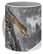Mountain Lion - Silent Escape Coffee Mug by Wildlife Fine Art