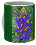 Mountain Lupine In Ancient Incan Pisac In Andes Mountains Above Sacred Valley-peru   Coffee Mug