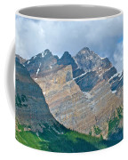 Mountain Peaks From Bow Summit Along Icefield Parkway In Alberta Coffee Mug