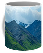 Mountain Peaks From Eielson Visitor's Center In Denali Np-ak Coffee Mug