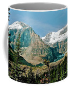 Mountain Peaks From Plain Of Six Glaciers Trail In Banff Np-albe Coffee Mug