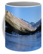 Mountain Reflection On Frozen Lake Coffee Mug