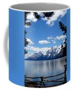 Mountain Reflection On Jenny Lake Coffee Mug by Dan Sproul