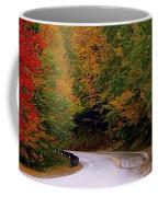 Mountain Road In Fall Coffee Mug