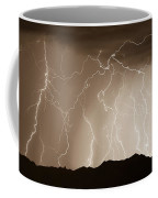 Mountain Storm - Sepia Print Coffee Mug