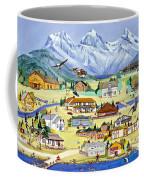 Mountain Town Of Canmore Coffee Mug