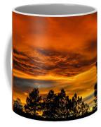 Mountain Wave Cloud Sunset With Pines Coffee Mug