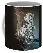 Mountainbike Sports Action Grunge Monochrome Coffee Mug