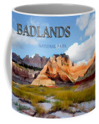 Mountains And Sky In The Badlands National Park  Coffee Mug