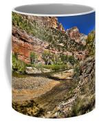 Mountains And Virgin River - Zion Coffee Mug