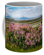 Mountains And Wildflowers Coffee Mug