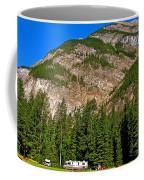 Mountains West Of Kicking Horse Campground In Yoho Np-bc Coffee Mug