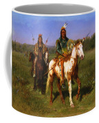 Mounted Indians Carrying Spears Coffee Mug