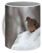 Mourning Dove In Snow Coffee Mug