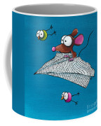 Mouse In His Paper Aeroplane Coffee Mug