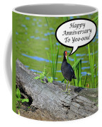 Mouthy Moorhen Anniversary Card Coffee Mug