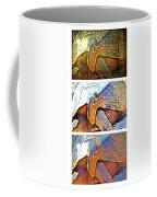 Mr. Tortoise Vertical Triptych Coffee Mug