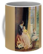 Mrs Hicks Mary Rosa And Elgar Coffee Mug by George Elgar Hicks