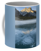 Mt. Abraham And Ice On Abraham Lake Coffee Mug
