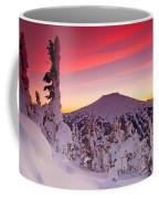 Mt. Bachelor Winter Twilight Coffee Mug