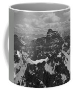 T-703512-bw-mt. Hungabee From Summit Of Mt. Lefroy-bw Coffee Mug