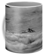 105355-mt. Jefferson Above The Clouds,or,bw Coffee Mug