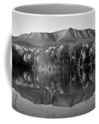 Mt Katahdin Black And White Coffee Mug