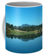 Mt Prevost Over Quamichan Lake Coffee Mug