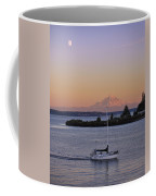 Mt. Rainier Afterglow Coffee Mug by Adam Romanowicz
