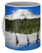 Mt Rainier And Three Trees Coffee Mug