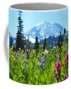 Mt. Rainier Wildflowers Coffee Mug