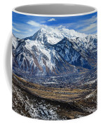 Mt. Timpanogos In Winter From Utah Valley Coffee Mug