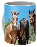 Mules On Alonissos Island Coffee Mug