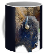 Multi-color-eyed Bison Near Wildlife Loop Road In Custer State Park-south Dakota Coffee Mug