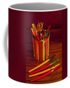 Multi Colored Paint Brushes Coffee Mug