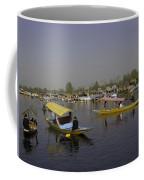Multiple Number Of Shikaras On The Water Of The Dal Lake In Srinagar Coffee Mug