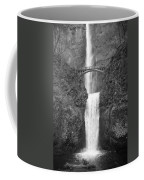 Multnomah Double Falls - Bw Coffee Mug
