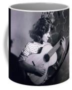 Mum Chris With Her Guitar Gitana Coffee Mug