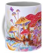 Mushrooms And Hedgehogs Coffee Mug