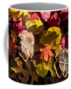 Mushrooms In Fall Leaves Coffee Mug
