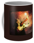 Music Explodes In The Night Coffee Mug by Linda Lees