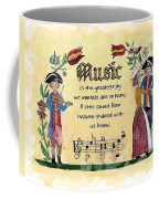 Music Fraktur Coffee Mug