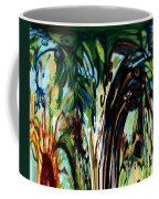 Music In Bird Of Tree Drip Painting Coffee Mug