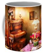 Music - Piano - The Music Room Coffee Mug by Mike Savad