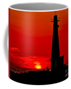 Muskegon Light Sunset Coffee Mug
