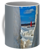 Muskegon Light Thru The Ice Coffee Mug